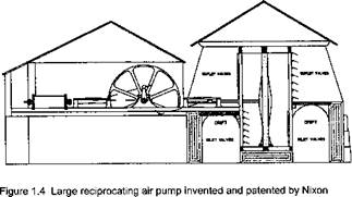 "The advent of mechanical air movement using ""air pumps"" and fires"