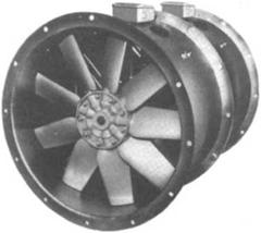 Contra-rotating axial flow fan
